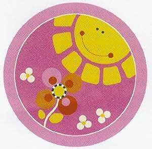 kinderteppich sonne rosa 200 cm rund k che haushalt. Black Bedroom Furniture Sets. Home Design Ideas