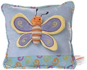 Play n Pets PNP-3495B Butterfly Cushion 27cm, Blue