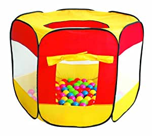 HomeStore Global, Best Summer holiday Children Kids Pop-Up Ball Pit Play Tent with 100 multi-coloured balls - Indoor and Outdoor