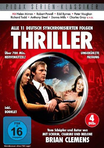 Thriller - Alle 11 deutsch synchronisierten Folgen der Kultserie von Brian Clemens ( Mit Schirm, Charme und Melone ) (Pidax Serien-Klassiker) [4 DVDs]