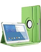 """Bingsale 360° Housse en cuir pour Samsung Galaxy Tab 4 Tablette Tactile 10.1"""" SM-T530/SM-T531/SM-T525 avec rabat/stand de positionnement support et le sort de veille (samsung galaxy tab 4 10.1, vert)"""