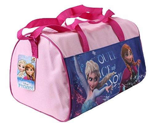 Disney Frozen-Frozen Borsa sportiva Plus Foglio con adesivi, rosa (rosa) - 600-222