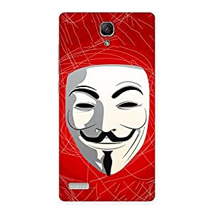 Impressive Red Anonymous Mask Back Case Cover for Redmi Note 4