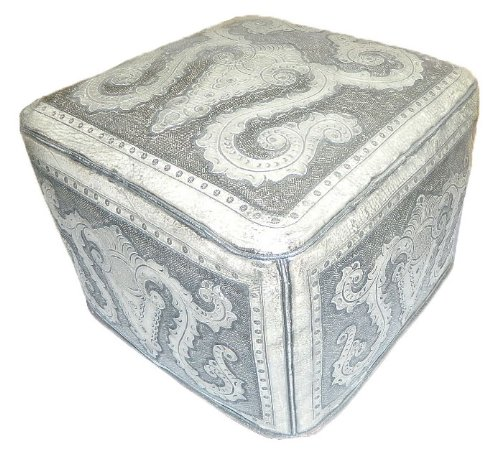 New World Trading Large Ottoman, Colonial, Ash