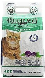 Better Way Flushable Cat Litter 12 Pound bag