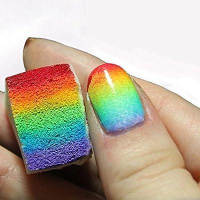 Generic 12pcs Gradient Nails Soft Sponges for Color Fade Manicure