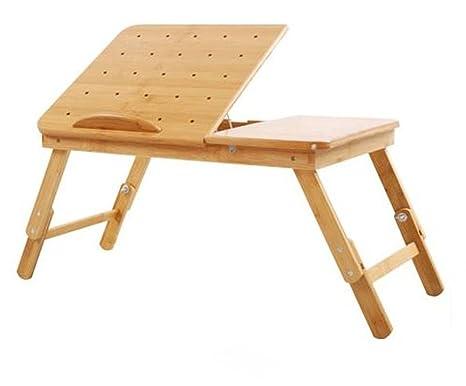 uzi-lazy persone benessere alla moda semplice tavolino pieghevole da letto con un foro di Lazybones, Custodia di Raffreddamento Notebook Computer Desk