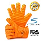 Cooking Gloves - Love Them Or Your Money Back! Premium Heat Resistant Silicone BBQ Gloves for Oven