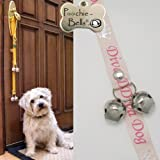 PoochieBells The Trusted Name in Dog Training Doorbells in Classic Diva Dog Pink and Silver Design