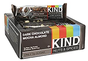 Kind Bar Nuts and Spices: Dark Chocolate Mocha Almond, Box of 12