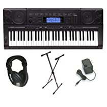 Casio CTK5000 Premium Pack with Power Supply, Keyboard Stand and Professional Closed Cup Stereo Headphones