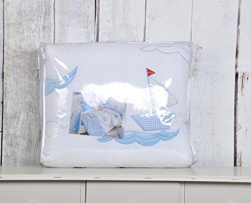 Blu marino Collection-Culla in cotone 100% per letto singolo, 4,5 Tog
