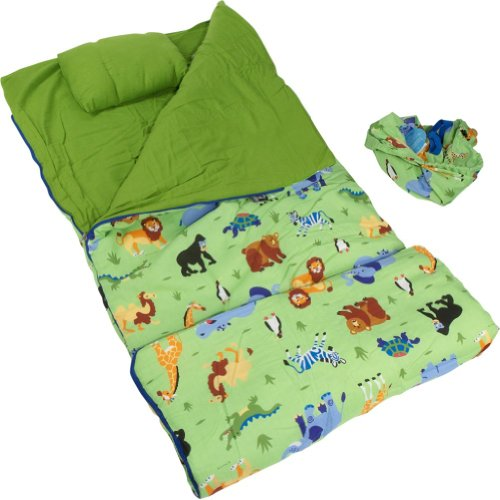 Wildkin Olive Kids Collection Wild Animals Sleeping Bag