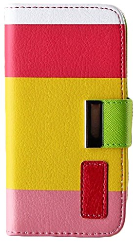 Mylife Spring Colors Design - Textured Koskin Faux Leather (Card And Id Holder + Magnetic Detachable Closing) Slim Wallet For Iphone 5/5S (5G) 5Th Generation Itouch Smartphone By Apple (External Rugged Synthetic Leather With Magnetic Clip + Internal Secur