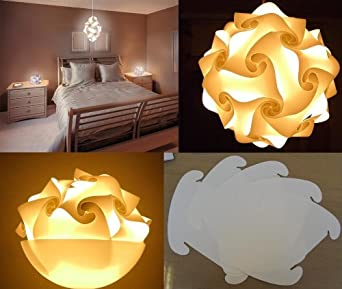 Lambda White Puzzle Lampada Romantica Lamps White - Ideal Custom