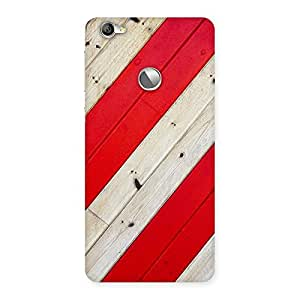 Enticing Diagnoal Red Print Back Case Cover for LeTV Le 1s