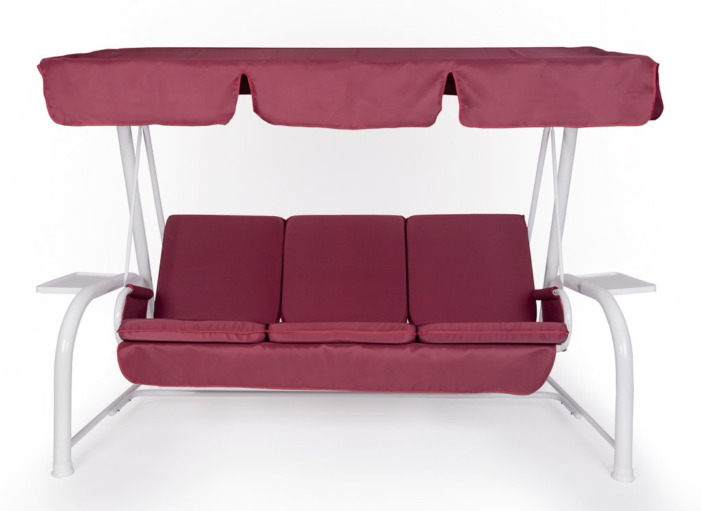 Set Dach für Hollywoodschaukel und Kissen 3-Sitzer BORDEAUX