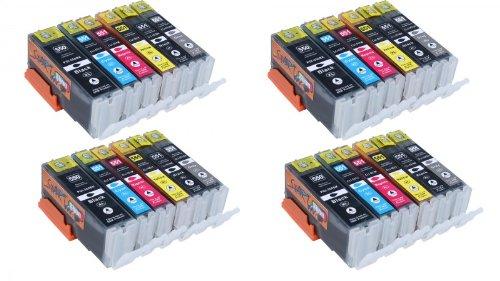 Start - 24 XL Ersatz Chip Patronen kompatibel zu Canon PGI-550BK XL Schwarz, CLI-551BK XL Foto-Schwarz, CLI-551C XL Cyan, CLI-551M XL Magenta, CLI-551Y XL Gelb, CLI-551GY XL Grau für Canon Pixma iP8750, MG6350, MG6450, MG7150
