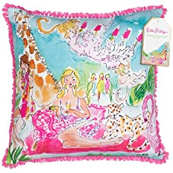 Lilly Pulitzer 162016 Pillow, Large, Zoo Party