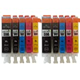 Canon CLI-551XL / PGI-550XL High Capacity - 10 Item Multipack Compatible Ink Cartridges for Canon Pixma iP7250 MG5450 MG6350 MX925