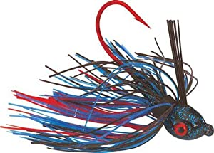 Strike King Bleeding Bait Premier Pro-Model Jig Bait (Bleeding Black Blue, 0.25-Ounce)