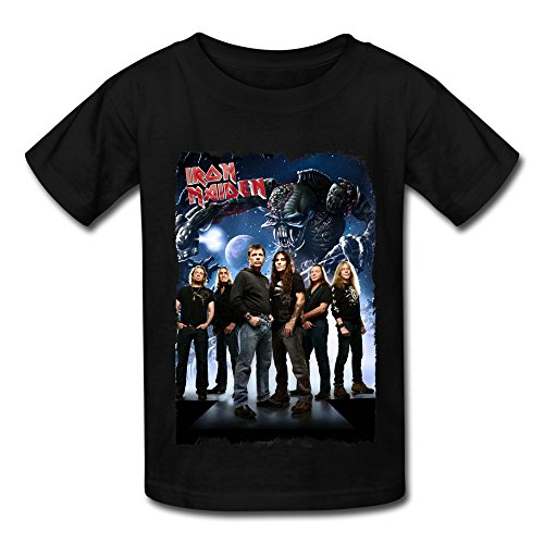 Black Kids T Shirt For Big Boys'Girls' We Love Iron Maiden (Iron Maiden Life After Death compare prices)