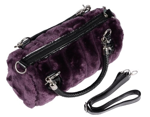 Trendy Bags/ Handbags with Shoulder Strap & Short Double Handles, Faux Fur