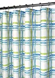 Park B. Smith Wavy Plaid Watershed Shower Curtain, Pop Blueberry