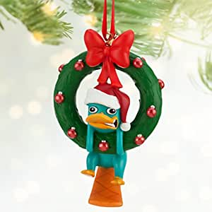 Disney Park Phineas and Ferb Perry the Platypus Figurine Ornament NEW
