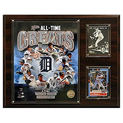 C and I Collectables MLB 15W x 12H in. Detroit Tigers All - Time Great Photo Plaque