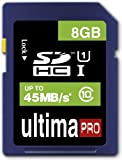 Memzi 8GB Class 10 45MB/s Ultima Pro SDHC Memory Card for Sony Handycam DCR-SR Series Digital Camcorders
