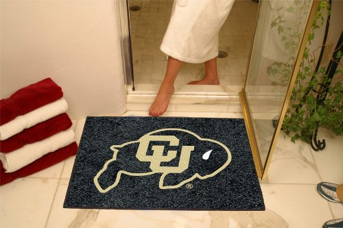 NCAA Colorado Buffaloes Chromo Jet Printed Rectangular Area Rug Floor Mat 45