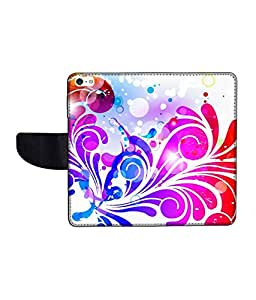 KolorEdge Printed Flip Cover For Apple IPhone 5 Multicolor -(43KeMLogo12110IPhone5)