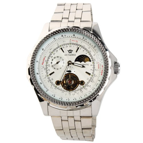 Yesurprise New Fashion Luxury Men Stainless Steel Automatic Mechanical Wrist Watch for Graduation Party Gift Trendy #14