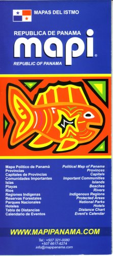 Republic of Panama Map/Guide by Mapi Panama (English and Spanish Edition)