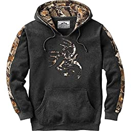 Legendary Whitetails Men\'s Outfitter Hoodie Charcoal Heather XX-Large