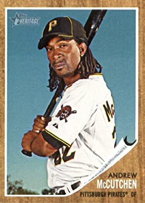 2011 Topps Heritage Baseball Card #10 Andrew McCutchen - Pittsburgh Pirates - MLB Trading Card