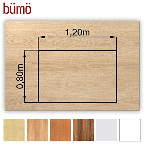 Bm-stabile-Tischplatte-25-cm-stark-DIY-Schreibtischplatte-aus-Holz-Brotischplatte-belastbar-mit-120-kg-Spanholzplatte-in-vielen-Formen-Dekoren-Platte-fr-Bro-Tisch-mehr-Rechteck-120-x-80-cm-Eiche