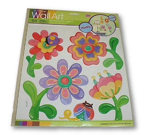 Craft Decor Puffy Wall Art (Flowers)