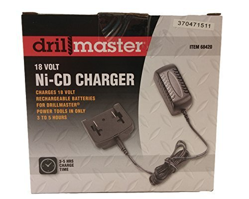 DrillMaster 68420 18 Volt NiCd Battery Charger For Cordless Tools 68413 by Drill Master (Drill Master 18 Volt Battery compare prices)