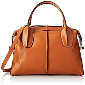 Fineplus Women's Vintage Hobo Smile Leather Shoulder Strap Tote Bag Large Brown