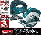 Makita BSS611Z 18V 165mm Cordless Circular Saw Plus BJV180Z 18V Li-Ion Jigsaw (Bare Unit)