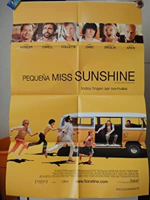 Original International Spanish Movie Poster Little Miss Sunshine Pequeña Miss Sunshine Steve Carrell Toni Collette