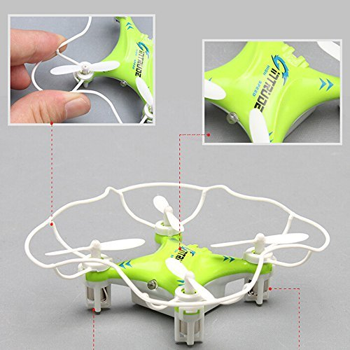 ToyJoy-F8-SPACE-TREK-RC-Nano-Drone-Childrens-Gift-24GHz-6-Axis-Gyro-360-Flip-Mini-Quadcopter-with-Blade-Guard-Cover-Controller-USB-Charging-Cable-Green