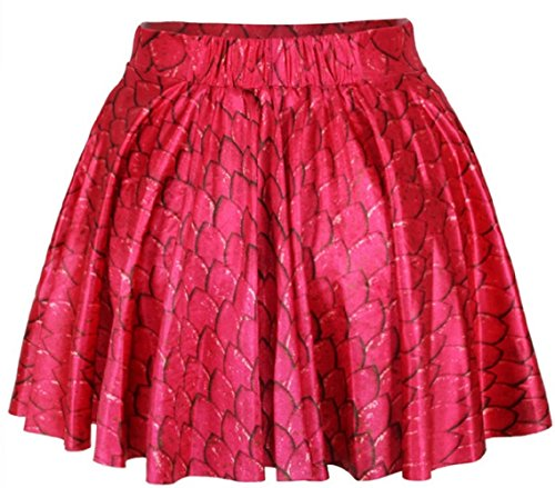 Sexy Ladies Red Dragon Scales Miniskirt
