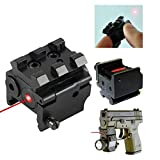 Mini Adjustable Compact Red Dot Laser Sight With Detachable 20mm Rail For Pistol Air-gun Rifle Hunting Accessories Pistol Sight handgun laser Sight