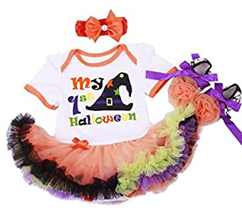 Newborn Infant Baby Girls Halloween Romper Outfits