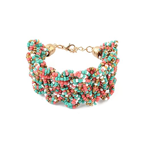 Winter's Secret Bohemia Female Sweet Rice Bead Hand Weaving Bracelets Colorful Vintage Jewelry