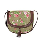 Lychee Bags Women Canvas Kay Sling Bag (LB23BG, Grey, Green, Pink)