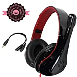 X11 for Xbox 360 Win Shipping 3.5mm Audio Plug Headphone Headset Earphone with Mic Microphone with Controltalk for Pc Laptop Notebook - Black